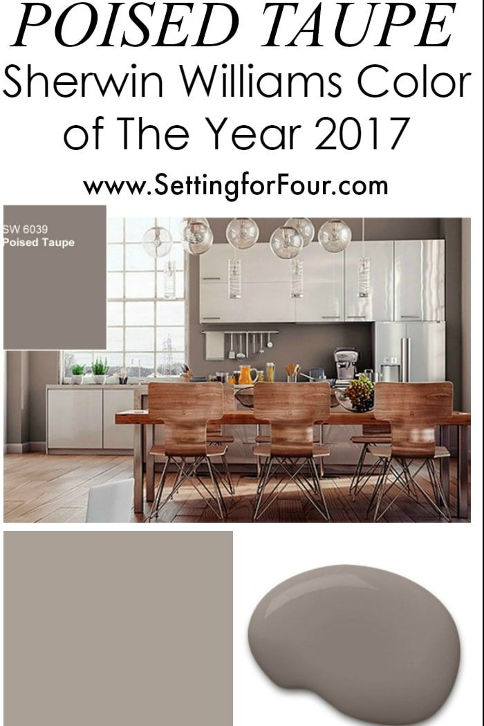 Sherwin Williams Poised Taupe: Color of the Year 2017 | Colores para ...