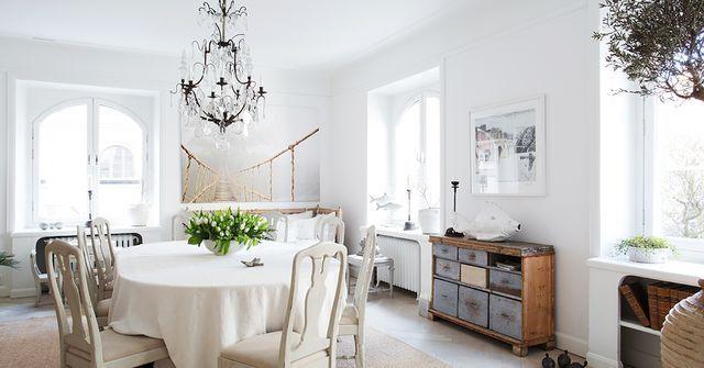 Sala Da Pranzo Shabby : Nordic style e shabby chic per un bellissimo appartamento svedese