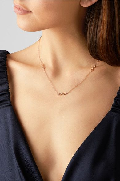 1daae538c Tiffany & Co. - Infinity 18-karat Rose Gold Necklace in 2019 | Jewelry