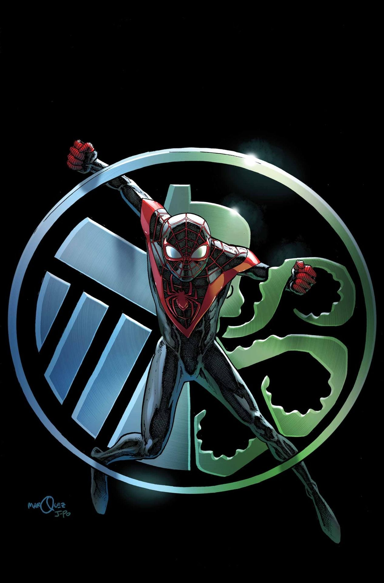 #Spiderman #Miles #Morales #Fan #Art. (Miles Morales Ultimate Spider-Man Vol.2 #8 Cover) By: David Marquez. ÅWESOMENESS!!!™ ÅÅÅ+