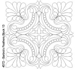 Could be a lovely quilted motif Barbra's Feathers Block 13