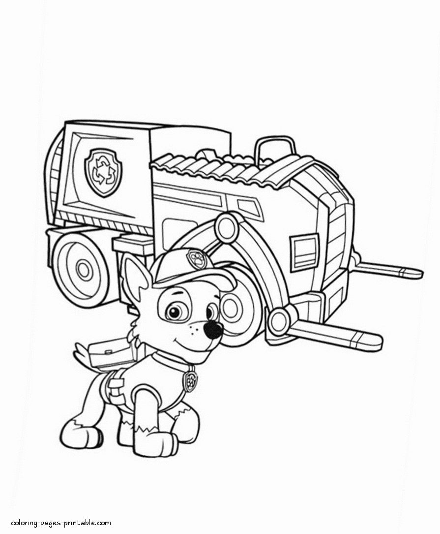 Rocky Paw Patrol Coloring Page Inspirational Paw Patrol Free Printable Coloring Pages Rocky Paw Patrol Coloring Pages Paw Patrol Coloring Coloring Pages