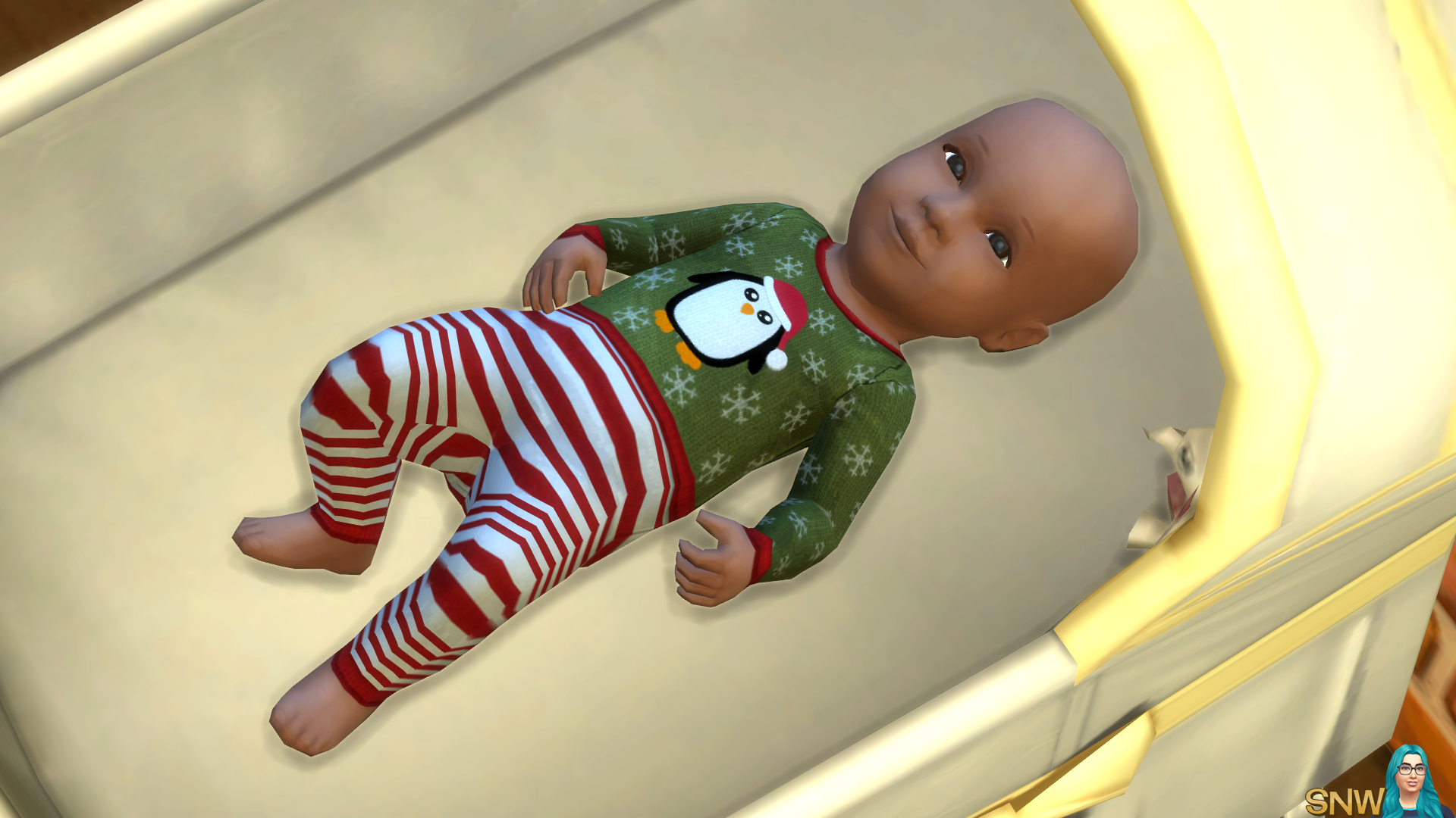 Baby Penguin Christmas Outfits for TheSims4 snetwork