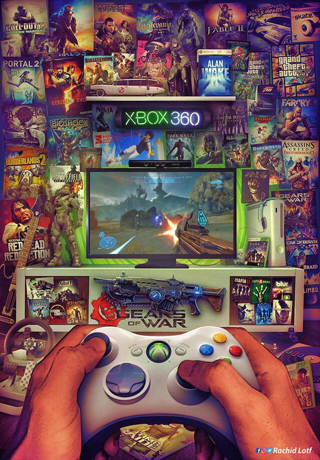 Xbox 360 In 2020 Classic Video Games Gaming Wallpapers Retro Gaming Art