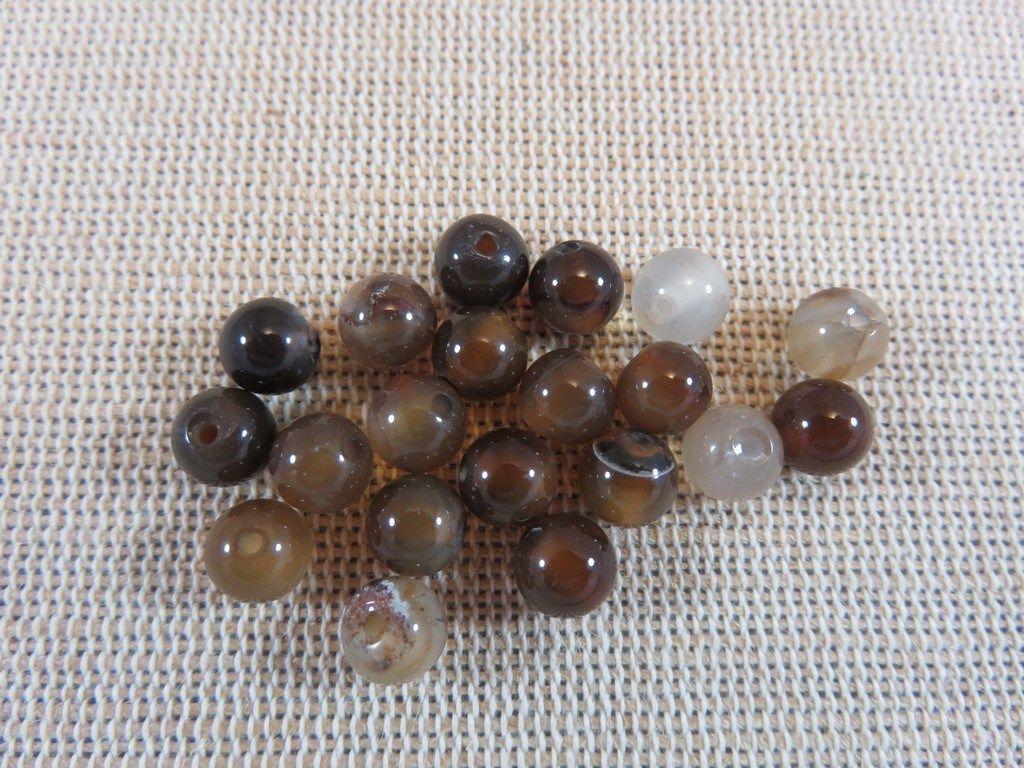 Lot 20 Perles Nacrées 10mm Rose Clair en verre de Bohème