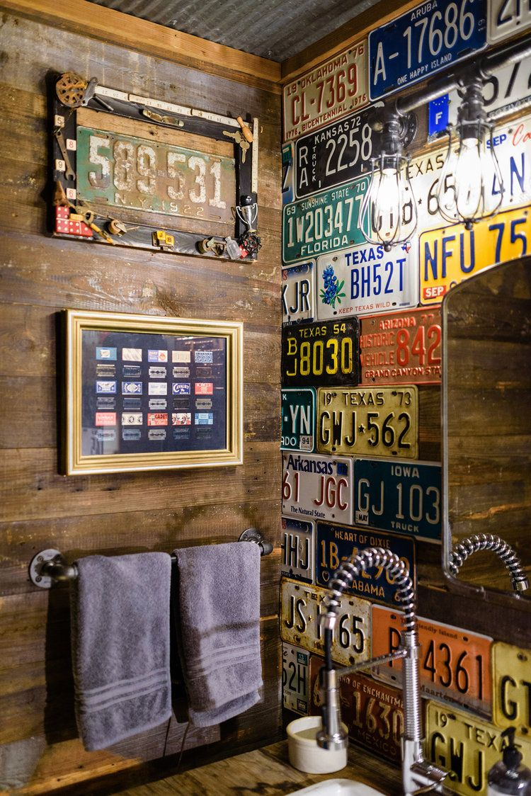 Portfolio J Bryant Boyd Architect Design Build Georgetown Tx Man Cave Home Bar Man Cave Bathroom License Plate Decor