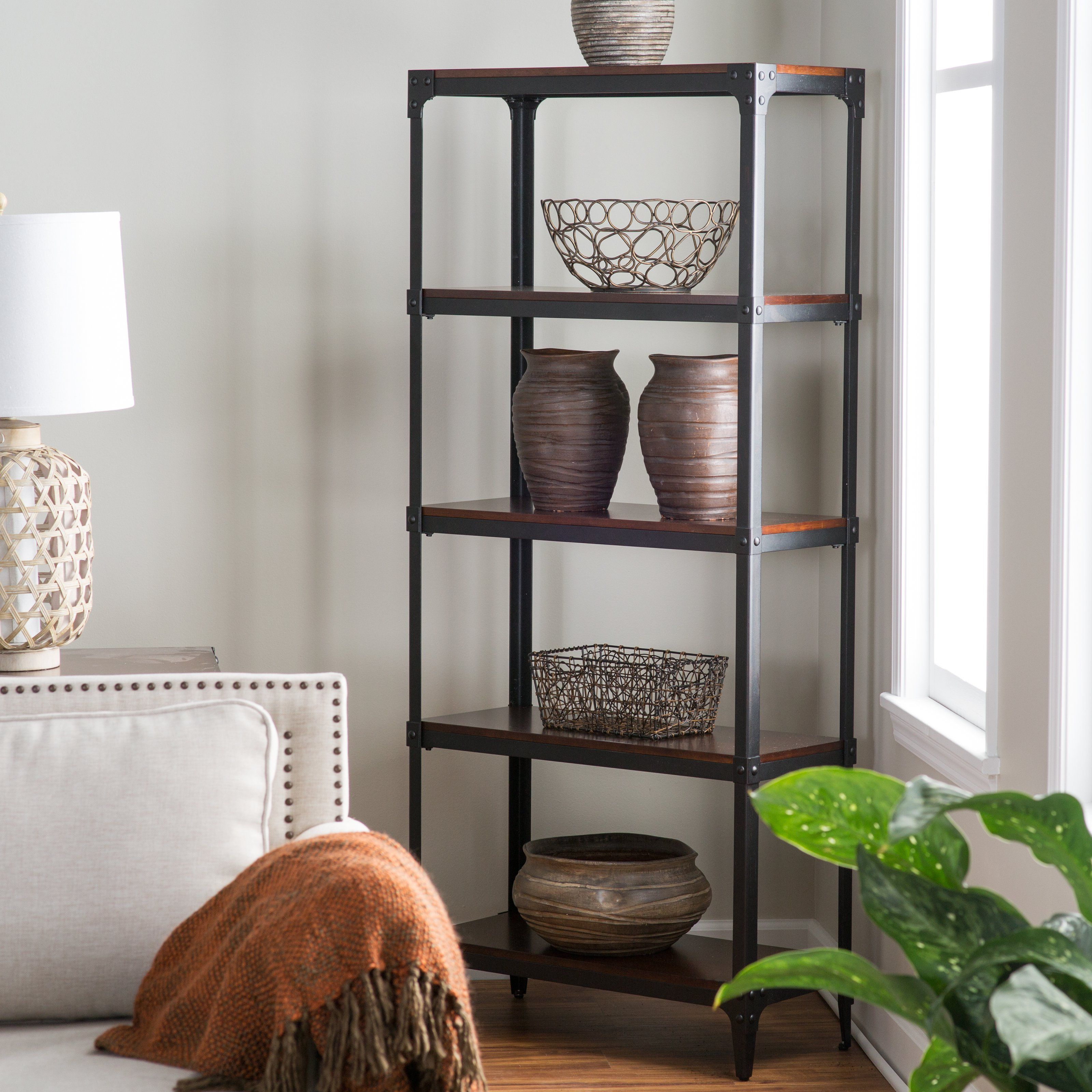 Industrial bookcase for the home pinterest industrial room