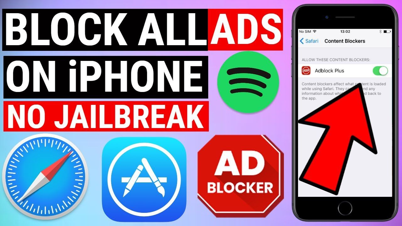 How To Block All Ads Free On Iphone Ios 13 12 Apps Safari Icloud Ios Apps Adblock Plus