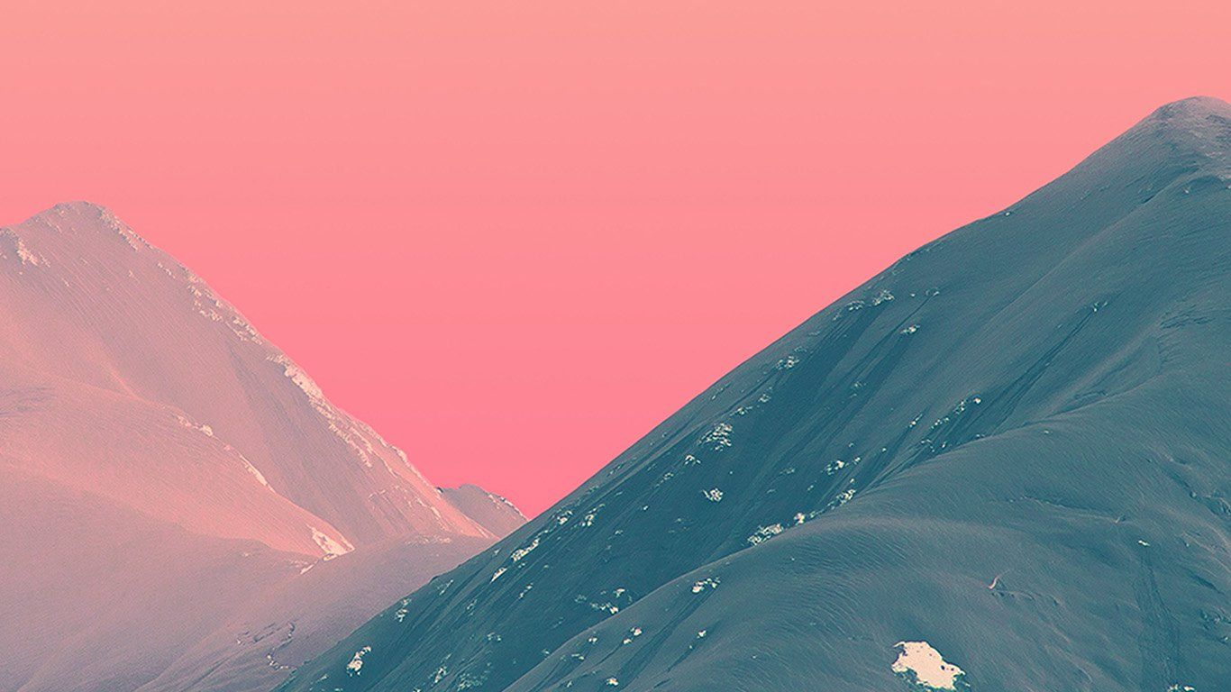 Bf71 Mountain Pink Nature Art Aesthetic Desktop Wallpaper Nature Art Pink Nature
