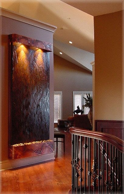 Indoor Wall Water Fountain Feature Features Fountains By Exaltedfountains Via Flickr Custom Indoor Wall Fountains House Design House