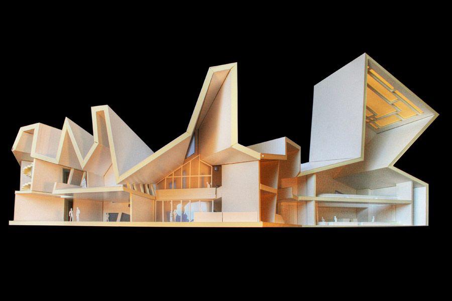 Architecture Photography Jewish Community Center Mainz Manuel Herz Architect Architecture Model Maquette Architecture Architecture Presentation