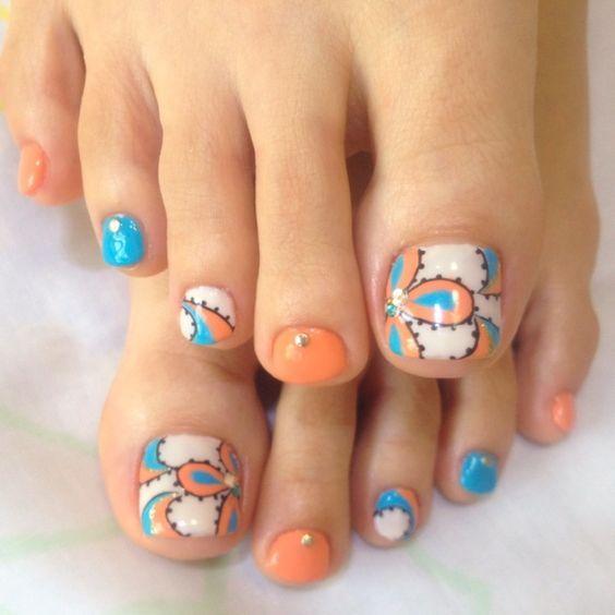 Pin de Caren Albarian en Nail Art | Pinterest | Diseños para pies ...