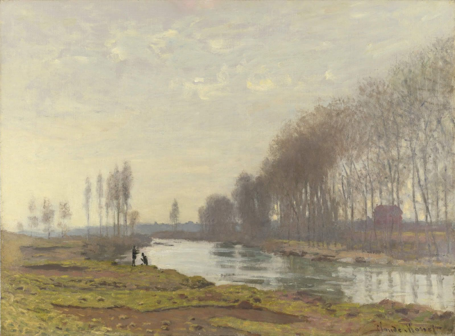 The Petit Bras of the Seine at Argenteuil. 1872 Claude-Oscar Monet ( Oil on canvas, 52.6 x 71.8 cm, The National Gallery, London ).
