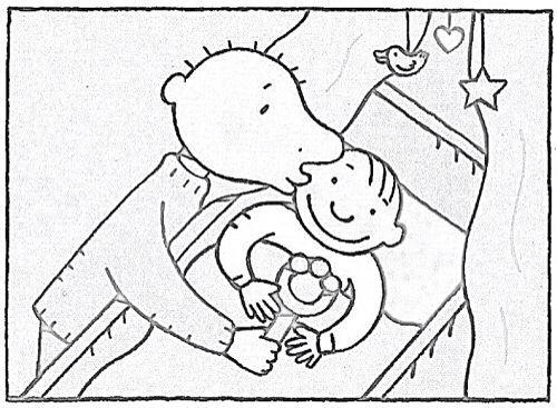 kleurplaat thema baby geboorte zwanger