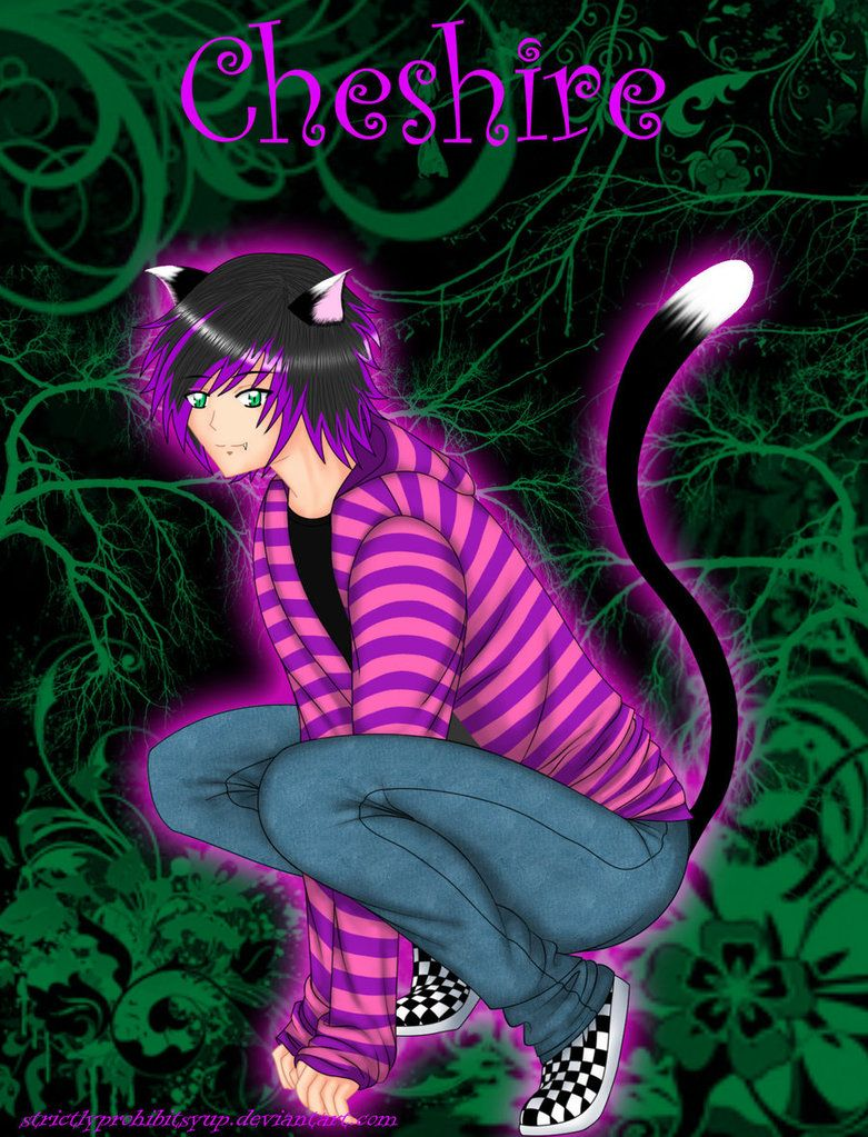 Картинки девочка чеширский кот