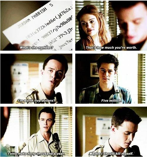 The moment i could relate with parrish real hard