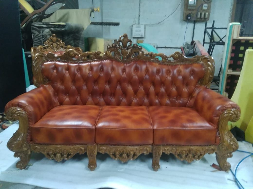 Pin By Mbk Wood On Mbk Wood Hyderabad Sofa Set Call 9395541344 Leather Sofa Set Wooden Cupboard Wooden Sofa Set