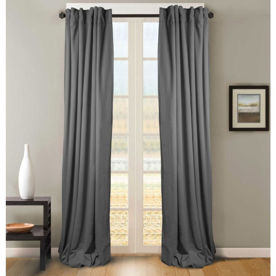 Pebbles Grey White Curtain Panel Pair 50 X 84