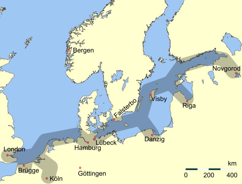 Haupthandelsroute Hanse - Hansaliitto – Wikipedia