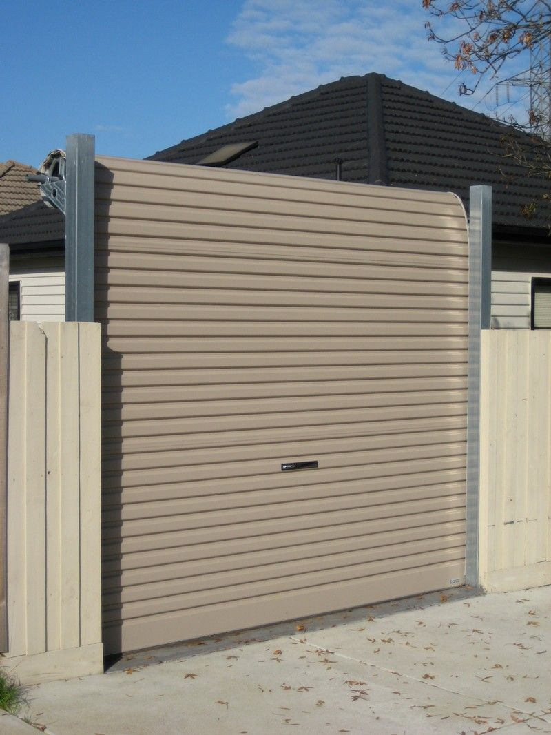 Garage Door Screen That Rolls Up Fenceline Roller Doors Rj Doors Roll Up Doors In 2019 Roller