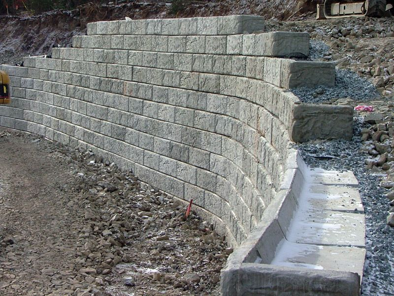 Retaining Wall Stone Cage Fence Landscaping Backyard Fences