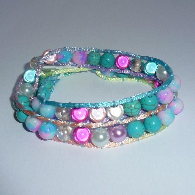 Rainbow wrap bracelet £8.00