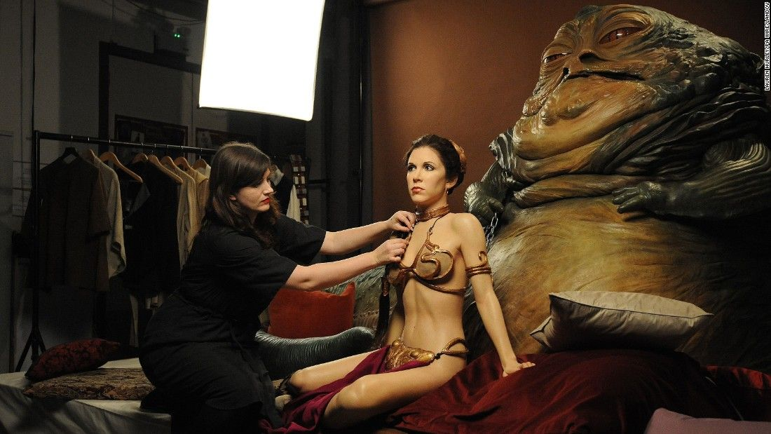 Costume designer Keeley Scothern applies the finishing touches to a wax figure of Princess Leia which along with Jabba the Hutt is part of Madame Tussaudsu0027 ...  sc 1 st  Pinterest & Costume designer Keeley Scothern applies the finishing touches to a ...