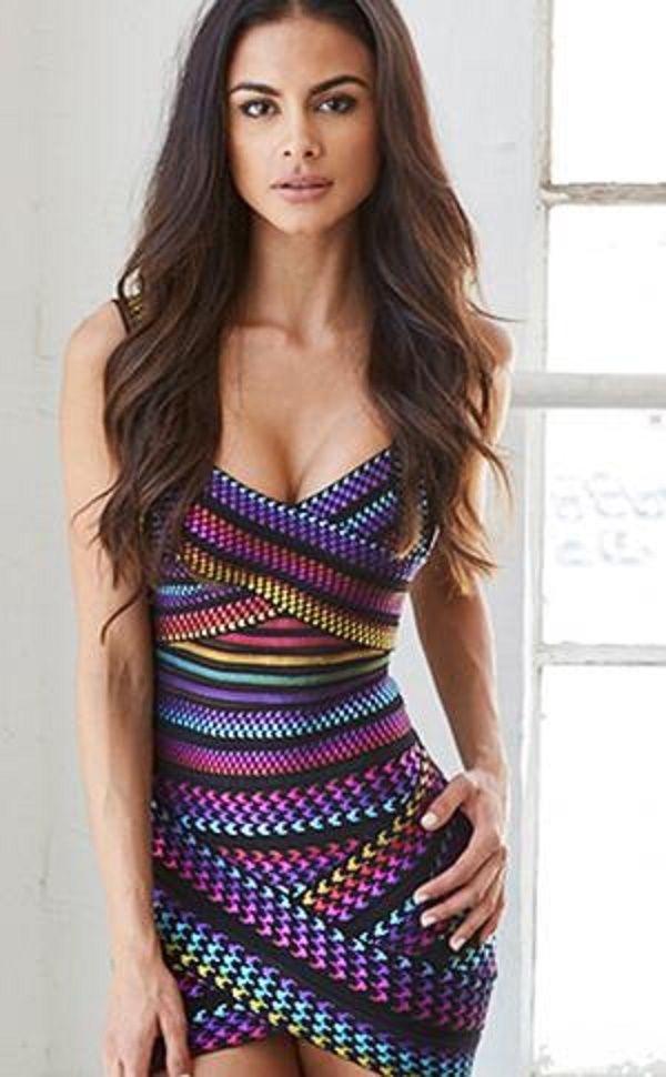 9bd916239d1 Colorful bandage dress   Sexy Dress   Dresses, Bodycon dress ...