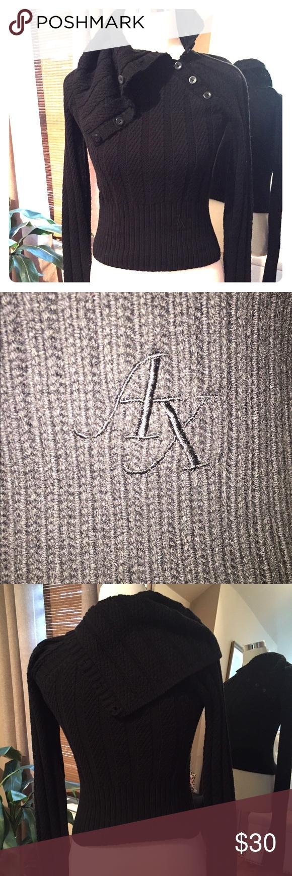 Armani Exchange cowl neck sweater Black AX sweater excellent condition A/X Armani Exchange Sweaters Cowl & Turtlenecks