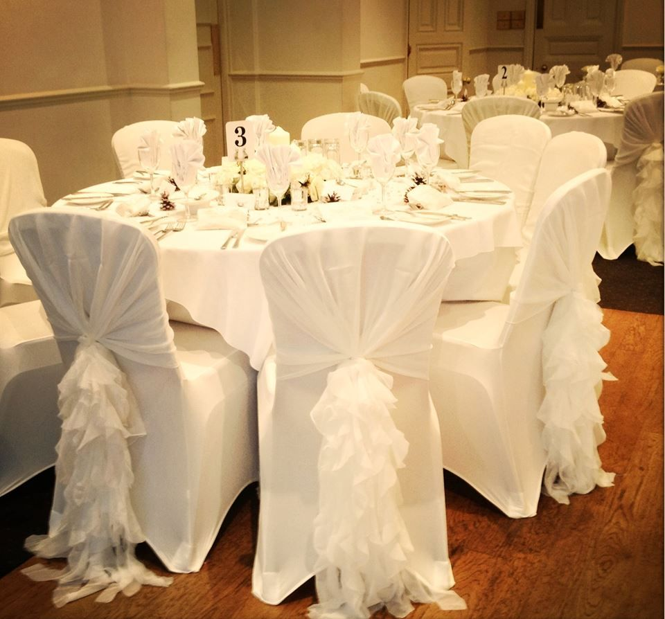 Phenomenal Ruffle Hoods White In 2019 Wedding Chair Decorations Ibusinesslaw Wood Chair Design Ideas Ibusinesslaworg
