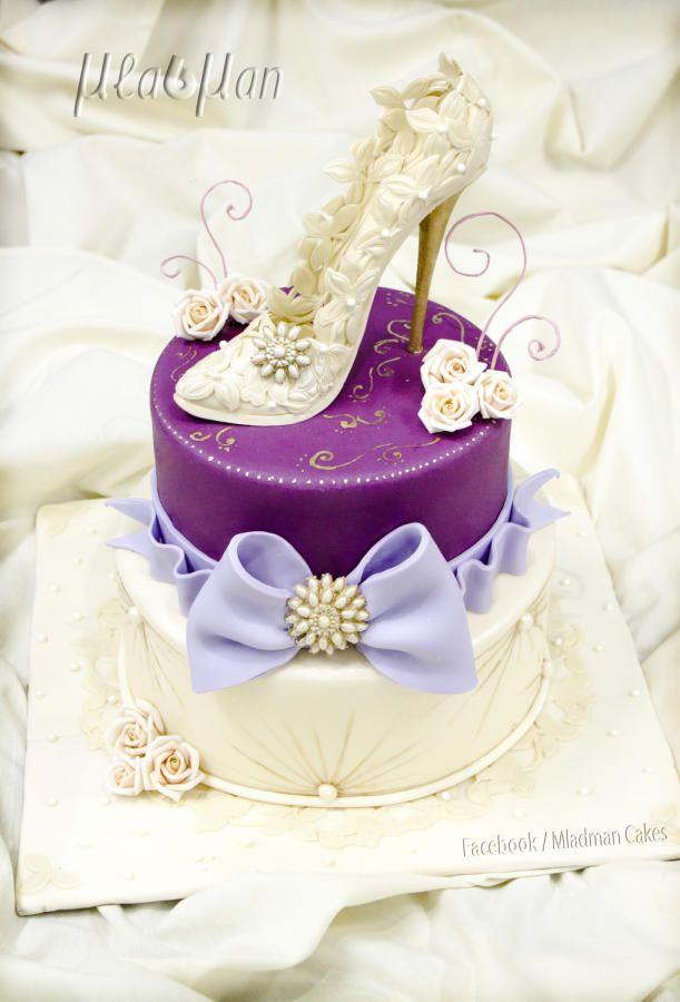 Lady Shoe Cake Cake By Mladman With Images Cake Shoe Cakes
