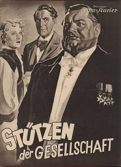 Stützen der Gesellschaft (1935) Stars: Heinrich George, Maria Krahn, Horst Teetzmann ~ Director: Douglas Sirk
