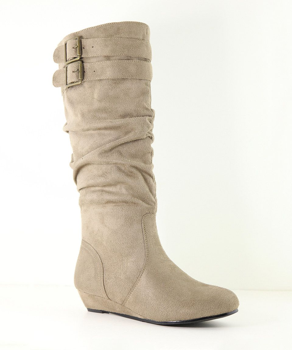 e7e8156b3c7 Love this Taupe Double-Strap Juno Boot by Anna Shoes on #zulily!  #zulilyfinds