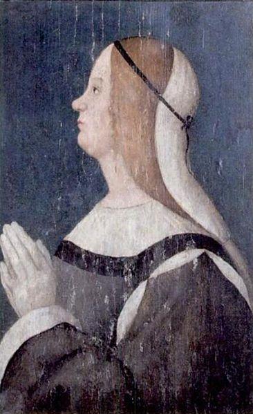 Sveva da Montefeltro second wife of Alessandro Sforza,late XV c.