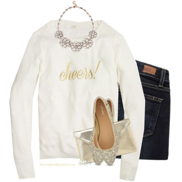 J.Crew sweater, Paige Denim jeans, and Old Navy flats.