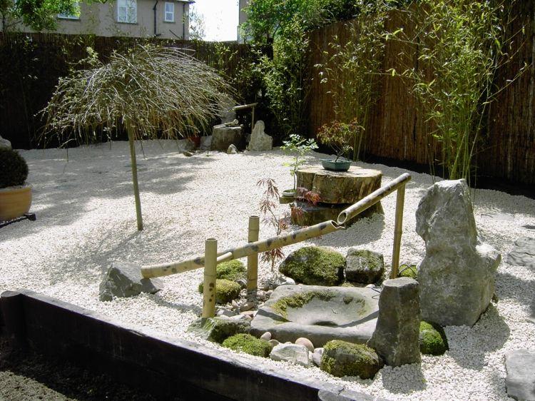 Asiatische Gartendeko bambus-brunnen-wasserspiel-steingarten ...