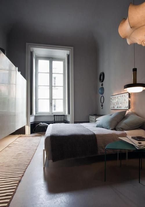 grey wall (mit Bildern) Vintage wohnung, Schlafzimmer