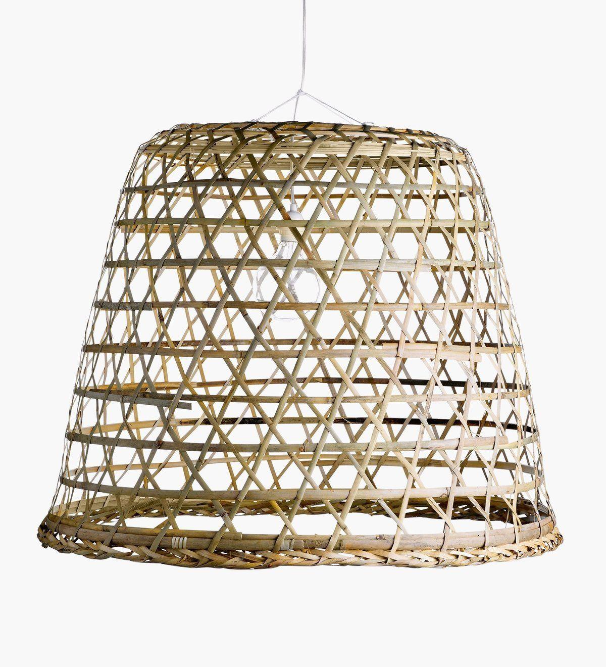 Sika Design Woven Bamboo Hanging Basket Lamp Bamboo Light