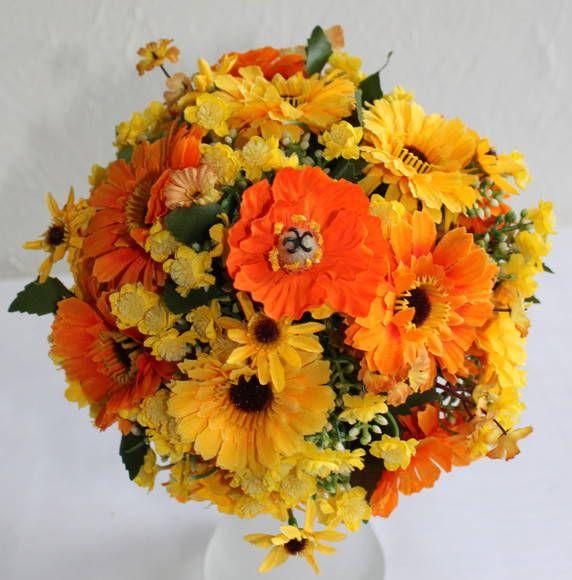 Gerberas Buque Amarelo Arranjos De Flores Amarelas Casamento