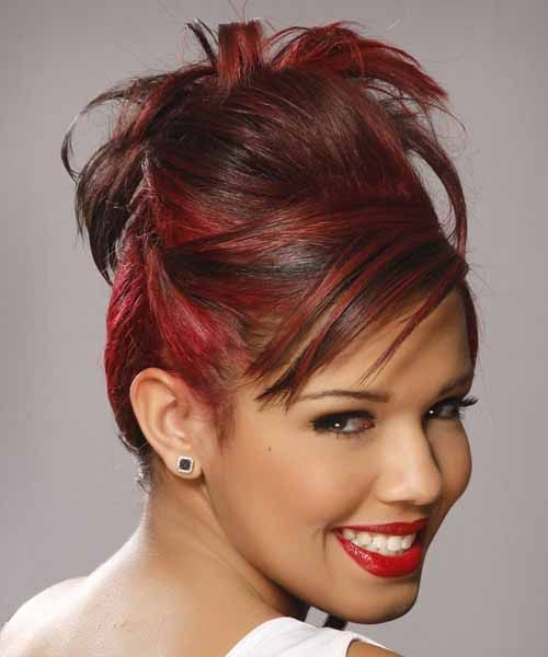 Easy work hairstyles for medium long hair cute quick curly updo for ...