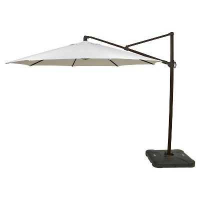 Find Product Information, Ratings And Reviews For 11u0027 Round Offset Patio  Umbrella With Base   Medium Faux Wood Pole   Threshold™ Online On  Target.com.