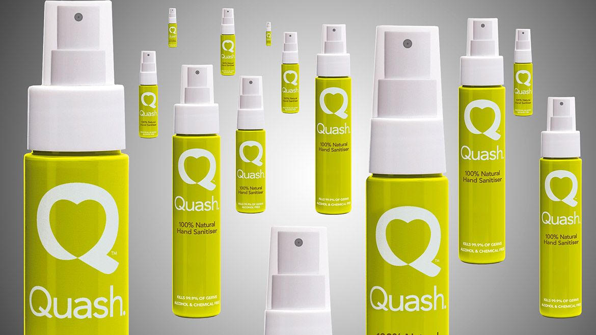 Quash Brand Creation Design By Chaos Natural Hand Sanitizer