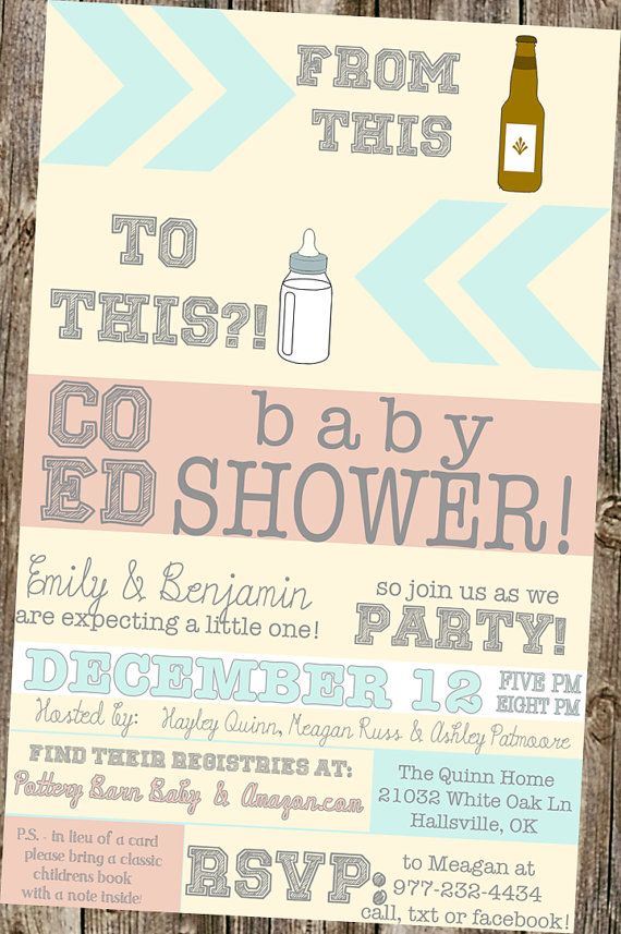 Beer Bottle Baby Shower- CoEd invitation | Baby bottles, Beer ...