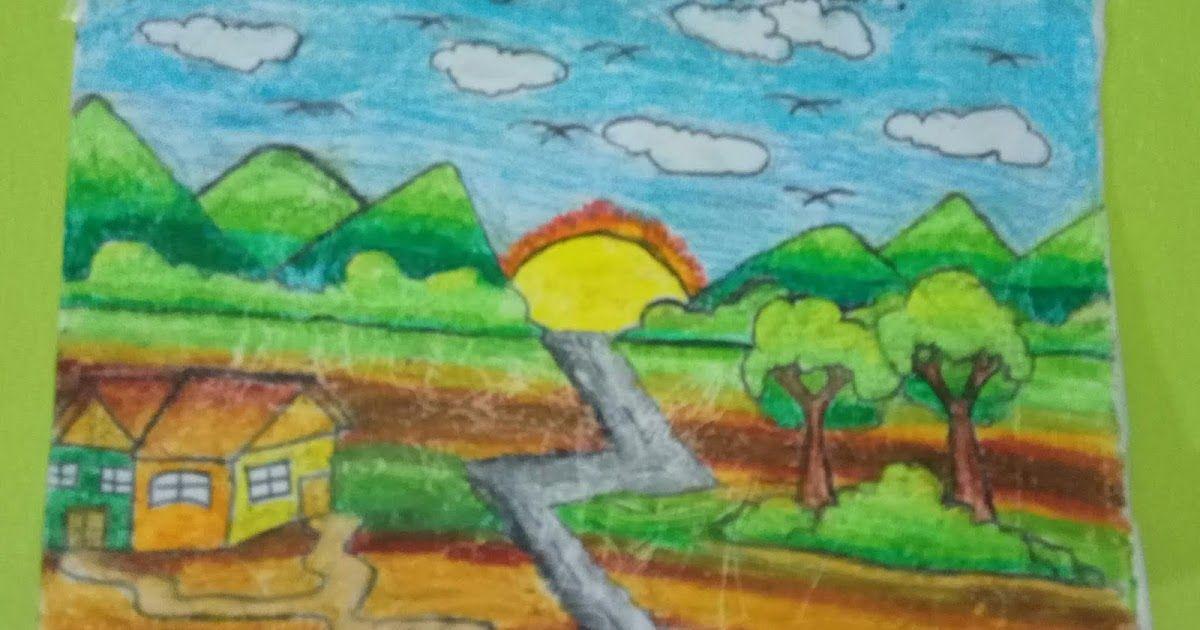 32 Lukisan Pemandangan Pedesaan Sederhana Gambar Lukisan Pemandangan Alam Pedesaan Gambar Viral Hd Download 5o Lukisan Di 2020 Gambar Pemandangan Ilustrasi Buku