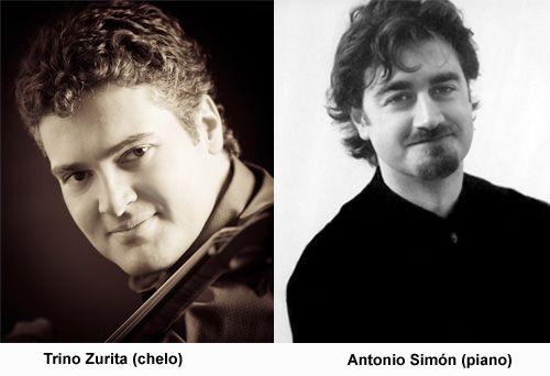 Conciertos Enero 2013 en Almuñécar  DÚO de violonchelo y piano - Trino Zurita (chelo), Antonio Simón (piano).  Hotel Bahía de Almuñécar