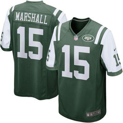 Men's New York Jets Brandon Marshall Nike Green Game Jersey