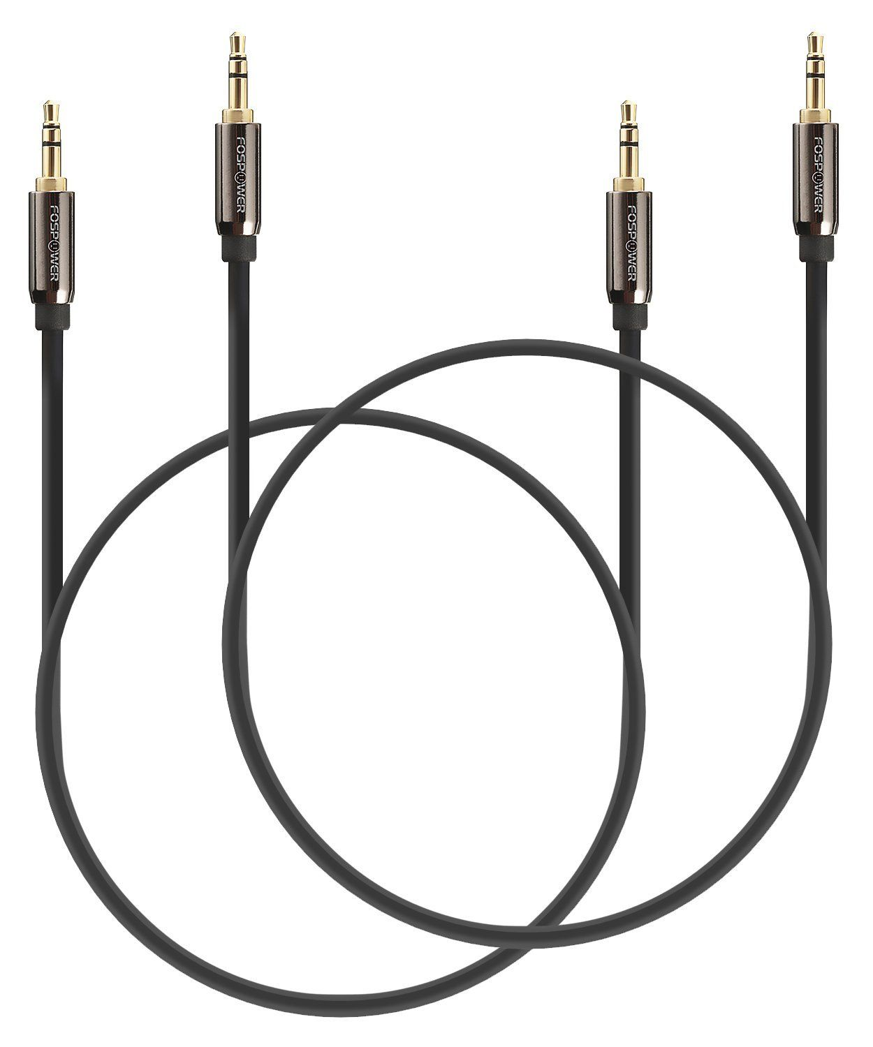Audio Cable 25 Ft 2 Pack Fospower Stereo Audio 3 5mm