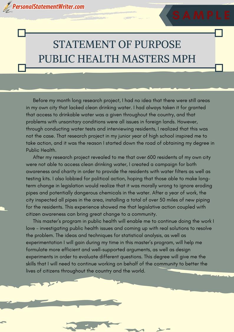 Public health service essay