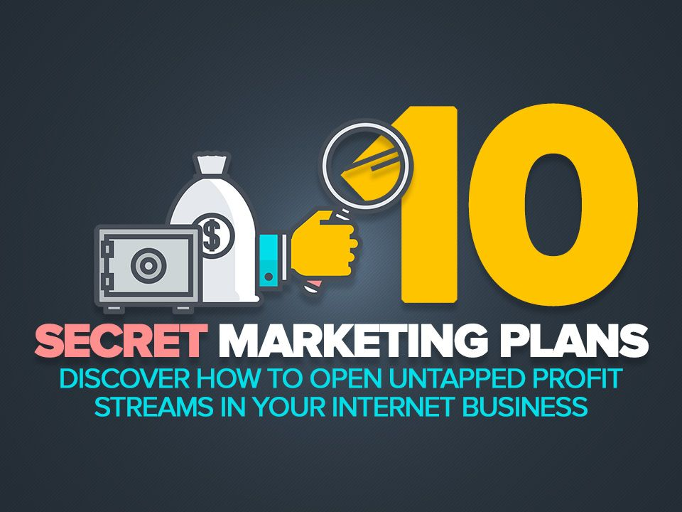 New previously unpublished secret marketing plans reveal how you can open untapped profit streams in your internet business to generate more orders!