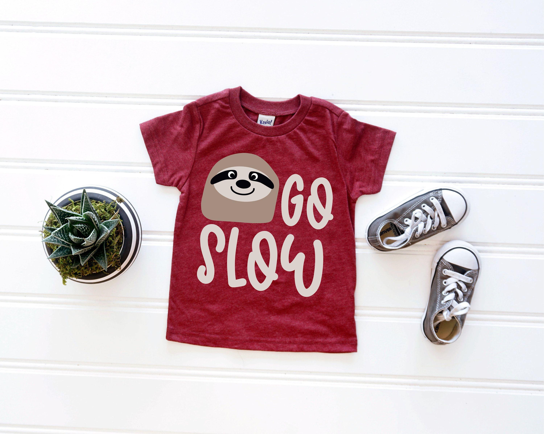 Go Slow Svg Cute Sloth Svg. Cute Sloth Shirt. Spirit